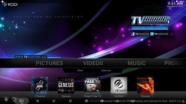 TVMC (Kodi/XBMC  15.1) - VIDEOS