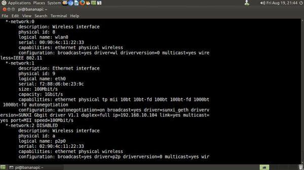 Ubuntu Network Info