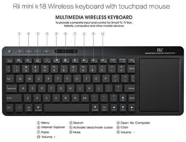 Riitek-K18-Wireless-Keyboard-Layout
