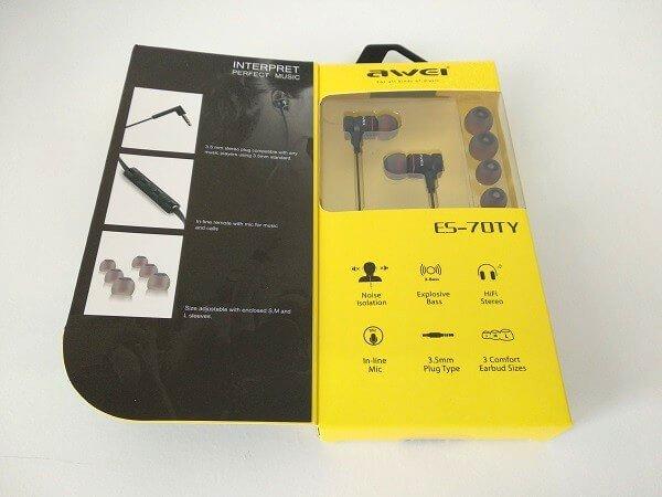 Awesome Handset In-ear earphone earbuds | AWEI ES-70TY 7
