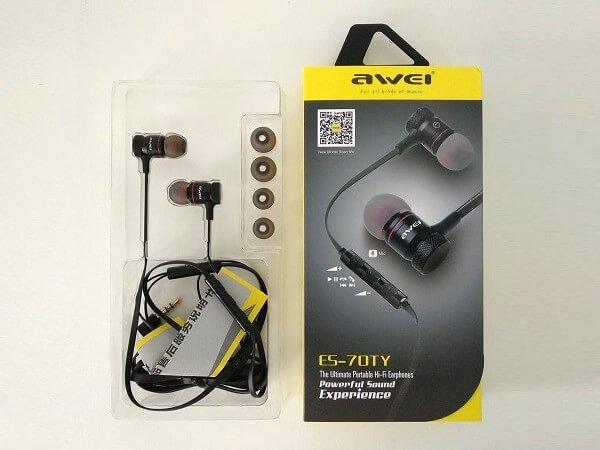 Awesome Handset In-ear earphone earbuds | AWEI ES-70TY 8